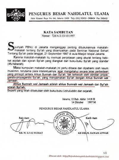 Keputusan Pengurus Besar Nahdhatul Ulama tentang Syi'ah