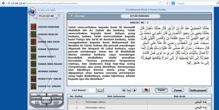 Kitab hadits online